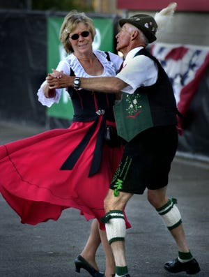 Dancers in traditional garb take to the floor at German Fest in 2009. The festival's organizers announced Friday that the 2020 festival has been canceled.