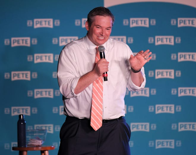 State Sen. Jeff Yarbro speaks at a rally for Democratic presidential candidate Pete Buttigieg at the Cannery Ballroom in  Nashville Wednesday, July 17, 2019.