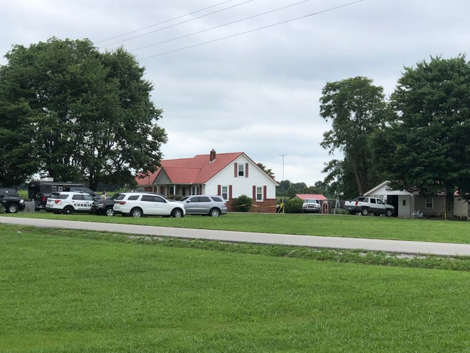 """The Macon County Sheriff's Office has blocked off a road in Macon County to """"set off some devices,"""" according to a deputy at the scene on Thursday, July 18, 2019."""