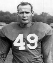 The New York Giants defensive back Tom Landry is shown in this in Dec. 1954 photo in New York.