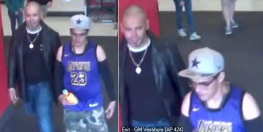 These two men are suspected of stealing a sport utility vehicle from the parking lot of the Las Cruces Target on March 10, 2019.