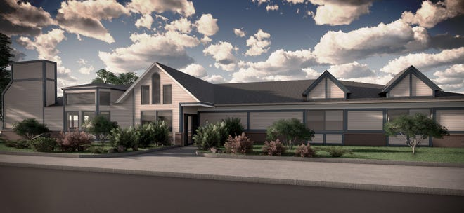A rendering of the proposed treatment facility once renovated.