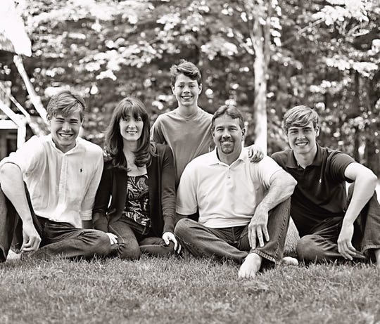 The Poet family: (from left) Nick, Mary, Drew, Kevin and Matt.