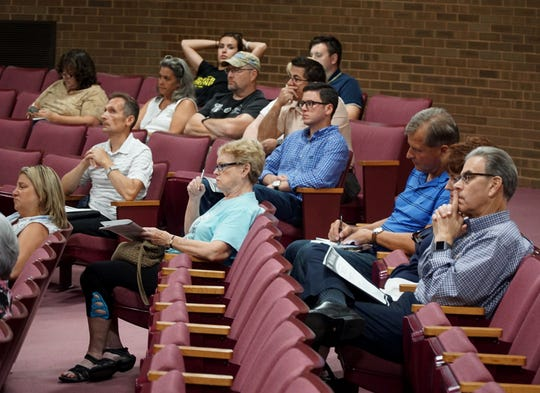 Some of those in the audience of the July 17 Livonia Mayor's debate inside the civic center.
