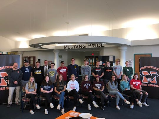 Northville High School has 26 seniors that will play sports in college.