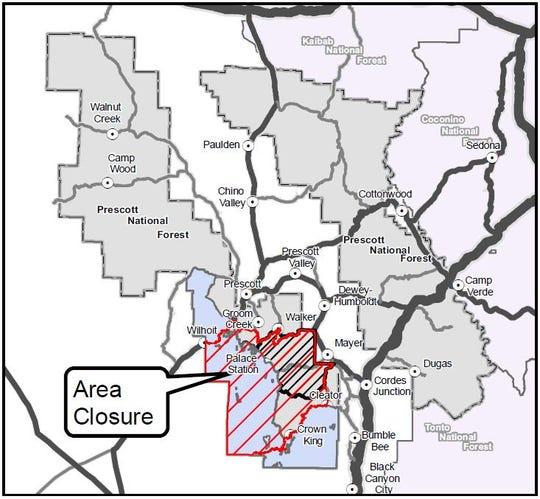 Cellar Fire area closure map