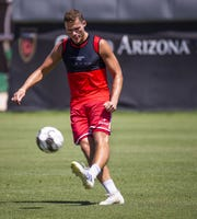 A.J. Cochran of Phoenix Rising FC, works out with the team at their Scottsdale field, Tuesday, July 9, 2019. Cochran is a key returner as the team prepares for the 2020 season.