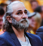 Phoenix Suns guard Ricky Rubio has his face filtered in the FaceApp for the social media Age Challenge