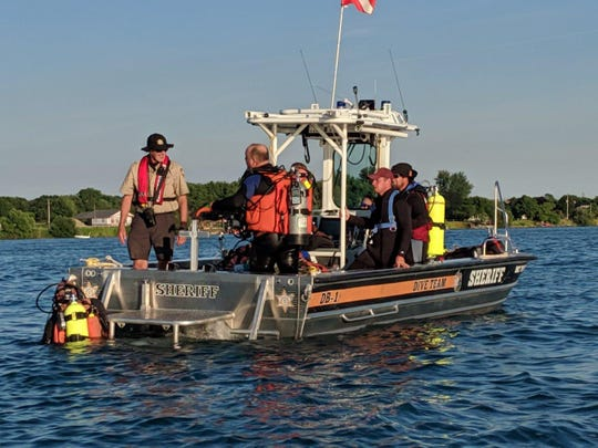 The St. Clair County Dive Team has been searching for a missing boater in July.
