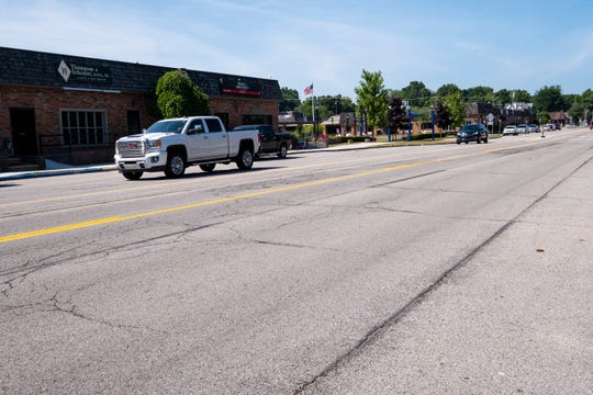 Work to restripe Riverside Drive in St. Clair was completed in July. The road was reconfigured from four lanes to two direction lanes and a center turn lane to slow traffic.