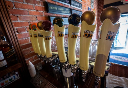 A row of Bell's beers are on tap at Fuel in downtown Port Huron.