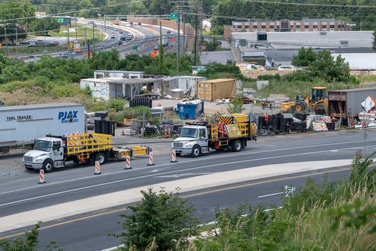 A work staging area is active between Camp Betty Washington Road and Interstate 83. Work continues along Mt. Rose Avenue on the I-83/Mt. Rose Avenue project July 17, 2019.