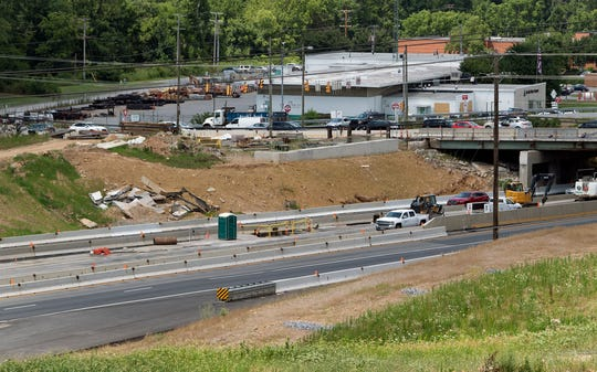 Work continues along Mt. Rose Avenue on the Interstate 83/Mt. Rose Avenue project, which is now more than 250 days overdue. This view is looking northwest.