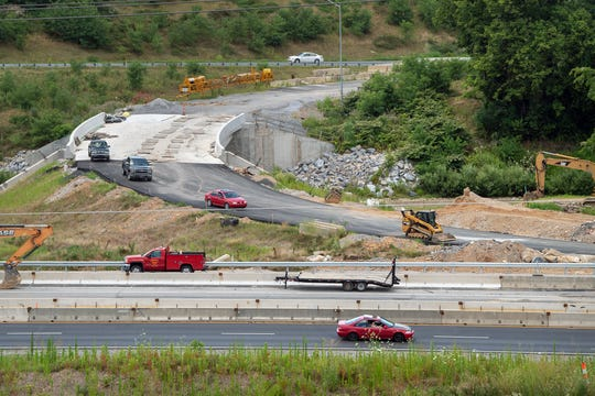 This is looking west across Interstate 83 at a partially finished exit ramp that  connects to Mt. Rose Avenue on the I-83/Mt. Rose Avenue project July 17, 2019.