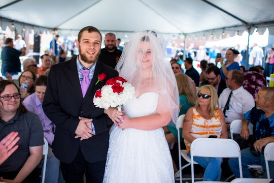 Austin Wright and Brianne Strayer of Spring Grove tied the knot all the way out in Pittsburgh, but that's not the interesting part. They had a free wedding, all because of where the wedding proposal took place. Her dress is from David's Bridal.