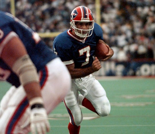 No. 100: Doug Flutie Position: QB. Years: 1998-2000 Achievements: Led Bills to playoff appearances in two of his three seasons. … In just 39 games, ranks sixth in passing yards (7,582), completions (598) and TD passes (47). … His 1.3 percent interception rate and three picks in 2000 are team records.