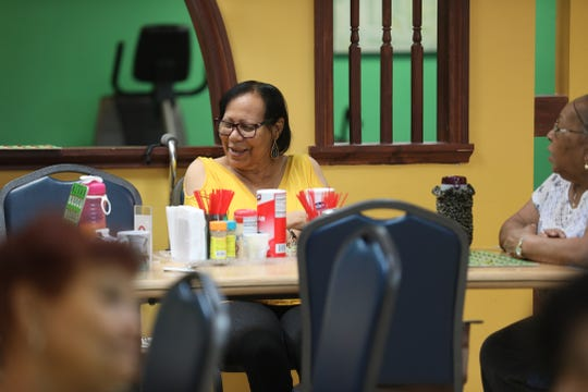 Elizabeth Boyrie plays Bingo and laughs and chats with her table mates at Ibero-American Action League Centro de Oro on July 17, 2019.  Boyrie was one of several people who moved here from Puerto Rico due to Hurricane Maria.