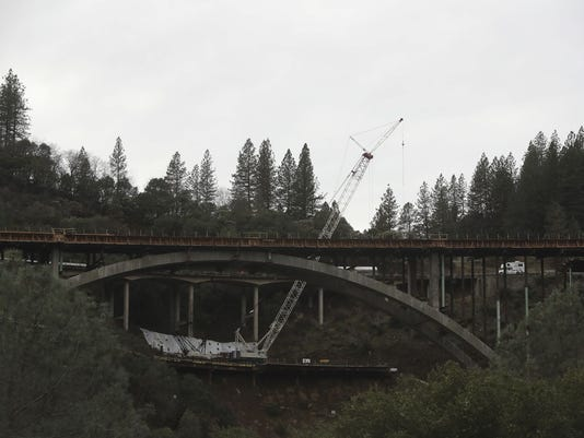 The Shasta Viaduct bridge north of Redding on Interstate 5 was built using arches so it could span a 140-foot deep gorge with railroad tracks at the bottom.