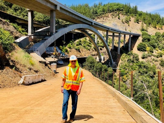 Caltrans expects to open one lane of the new Shasta Viaduct bridge on southbound Interstate 5 on Friday afternoon. The bridge is about 15 miles north of Redding.