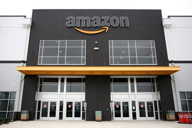 The Amazon fulfillment center in Salem on July 9, 2019. The 1-million-square-foot packing and shipping center will open in August with about 1,000 employees.