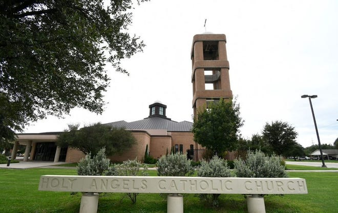 Plans for Holy Angels Catholic Church, 2309 A&M Ave, began June 16, 1958 with the purchase of 9.4 acres in the new College Hills subdivision of San Angelo. The church as seen here was started in 2002 with seating for 1,000 and dedicated on Aug. 10, 2003.