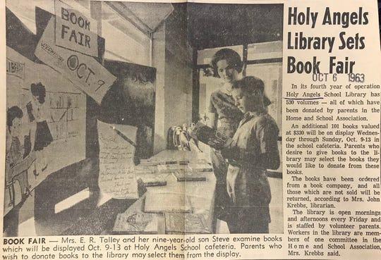 Holy Angels School relied on parents to donate books they wanted to see in the collection through a book fair, as seen in this Standard-Times article from 1963.
