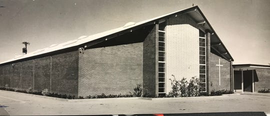 Phase 1 of Holy Angels Catholic Church in San Angelo was constructed in 1961, and included multi-purpose facilities, such as a gymnasium-auditorium, which also served as a church until a new sanctuary building was completed in 1982.