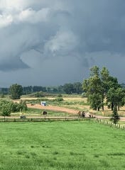 Storm clouds west of Sioux Falls on 263rd St. on Thursday, July 18.