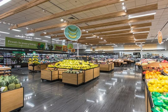 A photo of a remodeled grocery department at a Target in Minnesota.