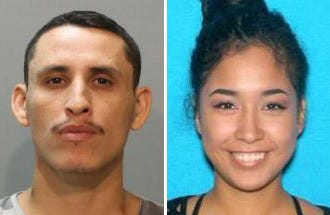 Ester Wolfe (right), 21, is missing and believed to be in the company of Jesse Sierra (left), 33, who allegedly assaulted her while they were in a relationship.