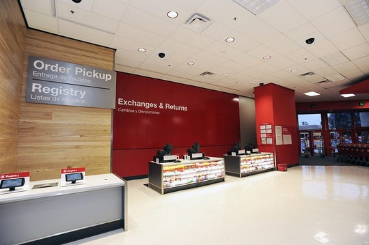 A photo of a remodeled guest services department at a Target in California.