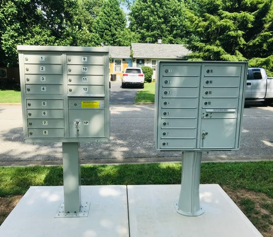 These postal boxes were put up early this month because the Postal Service stopped door-to-door delivery over a stretch of a few blocks on South Campbell Avenue because of concerns  about an aggressive dog.