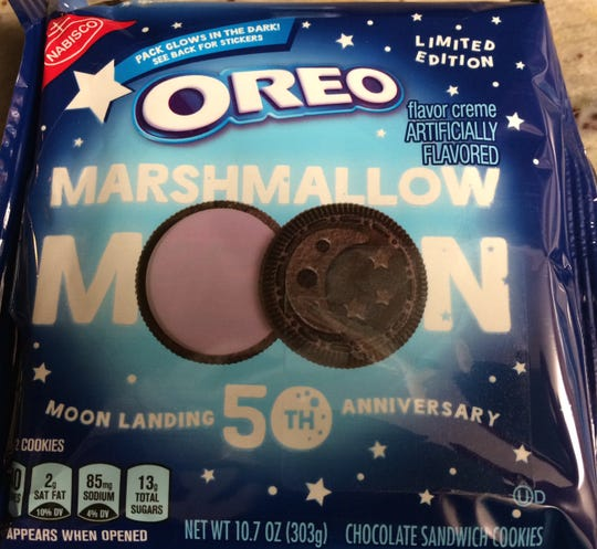 Oreo celebrates moon landing's 50th anniversary with special cookies.