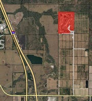 Michael Jordan's Grove Golf Club, red, seen from GIS aerial image taken between December and January by the Martin County Property Appraiser's Office.