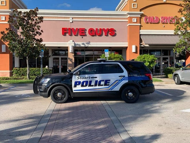 Stuart police arrested five people who had a fist fight at a Five Guys in Stuart on Wednesday, July 17.