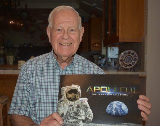 Ronnald Bodemeijer, of the Santa Rosa Valley, worked on the engines of the Saturn V rocket that carried Apollo 11.