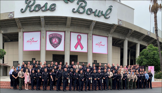 Tulare Police Department was able to join other Southern California police departments involved in the Pink Patch Project in June 2019.