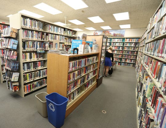 Book stacks at the Rose Memorial Library in Stony Point on Thursday, July 18, 2019.