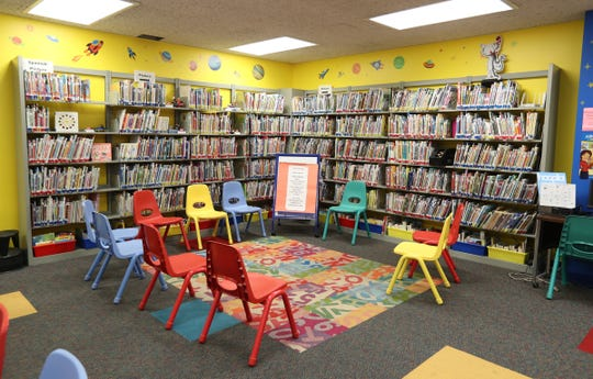 The childrens book room doubles as a program room at the Rose Memorial Library in Stony Point on Thursday, July 18, 2019.