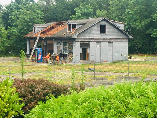 A long-vacant building that once housed a gas station is being remodeled on Johnsons Lane in New City, as shown in this July 18, 2019, photo.