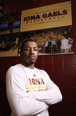 Isaiah Washington, a flashy point guard and a former NYC star basketball player, has transferred to Iona College after two seasons with Minnesota. Here he is pictured at Iona, July 18, 2019.