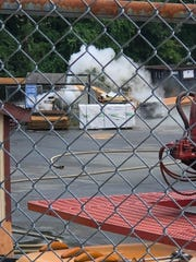 A large propane storage tank was leaking gas Wednesday. July 17, 2019