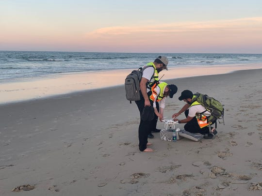 Volunteers with Chaverim of Rockland, led by coordinator Yossi Margaretten (center), headed down to Virginia Beach to search for the body of a rabbi who drowned after saving one of his campers. Margaretten and his volunteers Shlomy Morris and Yedidya Blau put together a drone to assist in the search. Chaverim coordinated the recovery efforts and Rabbi Reuven Bauman's body was found six days after he went missing. Bauman, who taught at a yeshiva in Norfolk, VA, has family in Rockland. He was buried Monday in Clifton. NJ.