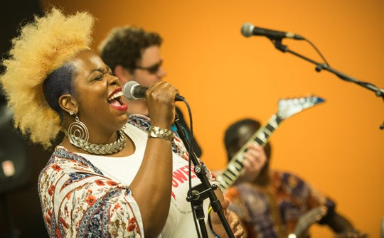 Wilmington singer Terretta Howard performs with her act Terretta Storm at Ladybug Music Festival in Wilmington last year.
