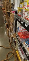 A noose was found hanging in the Home Depot on Miller Road by two sisters shopping for a birthday present for their mom.