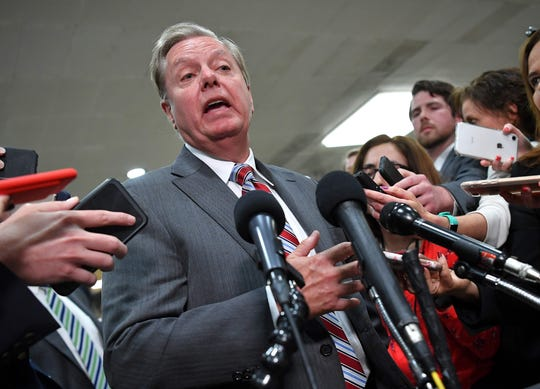 Sen. Lindsey Graham, R-S.C., has split from President Trump over the decision to pull out of Syria.