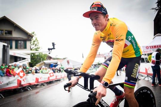 Rohan Dennis of Bahrain-Merica Pro Cycling Team quit the Tour de France.