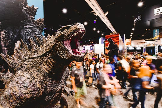 Guests attend the 2019 Comic-Con International preview Night at San Diego Convention Center on July 17, 2019 in San Diego, Calif.