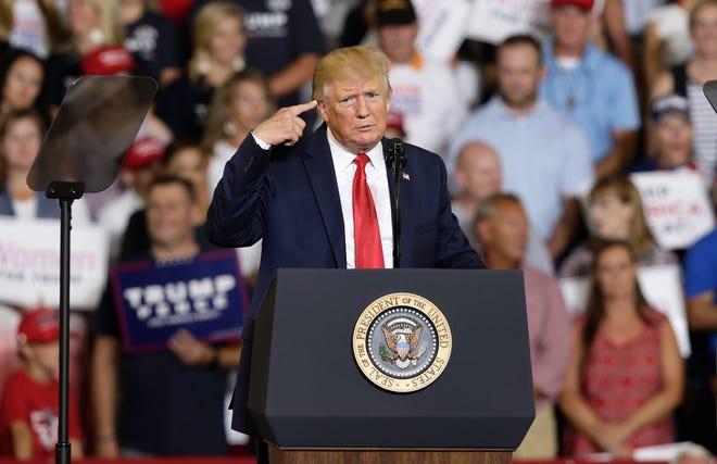 President Donald Trump in Greenville, North Carolina, on July 17, 2019.