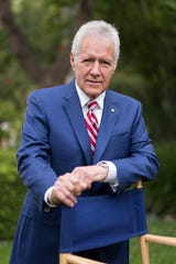 Alex Trebek poses for a photo in 2017.